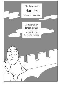 Stick figure Hamlet
